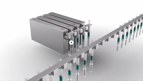 Weigh Cell integration: Load pick-up options for vials and syringes